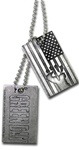 Green Day Fist Flag & Logo Dog Tag