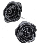 Alchemy Black Rose Studs