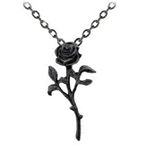 Romance Of Black Rose Pendant
