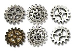 Alchemy Gearwheel Buttons - medium