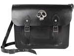 Alchemy Skulls Out Leather Satchel