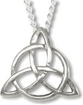 "Triquetra with ""Blessed Be"" Pendant"
