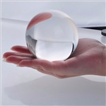 Large Clear Crystal Ball