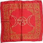 Triple Moon Pentagram altar cloth