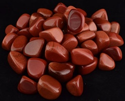 Red Goldstone tumbled stone