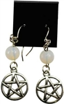 crystal pentagram earrings