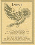 Dove Prayer parchment poster