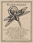 Hummingbird Prayer parchment poster