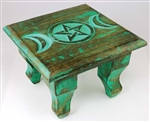 Antiqued Triple Moon altar table