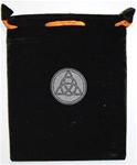 Printed Velvet Bag with Triquetra