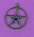 Medium Pentagram stone pendant
