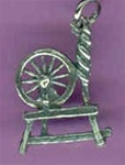 spinning wheel charm