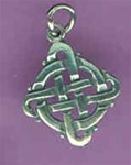 celtic round square charm