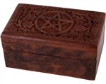 Carved Pentagram Trinket Box