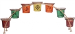 Om Buddhist multi Votive Holder