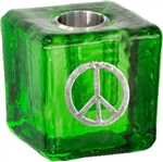 Peace Sign Wish Candle Holder