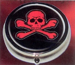 Ashtray Red Skull