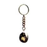 Tumbled stone keyrings - various