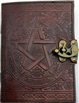 Brown Pentagram leather journal