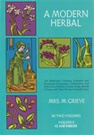 Modern Herbal  Vol 2 by Mrs M Grieve