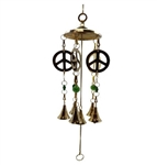 Peace Brass Wind Chime