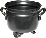 Plain black metal Cauldron